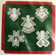 Lot of 3 Hardanger angel patterns Hanky Panky Desi                                                                                                                                                                                 Más