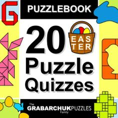 Puzzlebook: 20 Easter Puzzle Quizzes (color and interactive!) - Here is a special Easter present for all lovers of the Top Rated Puzzlebook series. In this new puzzle collection you will find 20 holiday themed, pictorial, hand-crafted puzzle quizzes. By The Grabarchuk Family #grabarchuk #kindle #puzzle #book $0.99