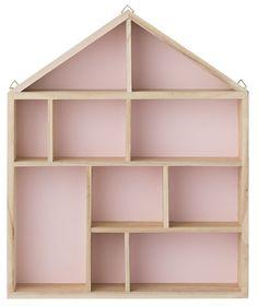 Köp Bloomingville Hylla Hus Natur/Rosa   Barnrummet Barnmöbler   Jollyroom #jollyroom #bloomingville #hyllor #påväggen #barnrum #barnrumsinspo #barnrummet #inredning