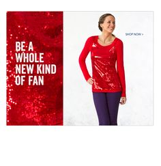 Add a little sparkle to you game days...  The Long Sleeve Sequin Top is here, find one in your school colors!