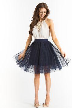 Midi Skirts, Mid Length Skirts, Polka Dot Skirts for Women – Morning Lavender