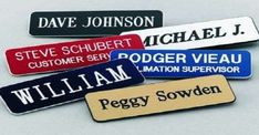 Custom Engraved Name Tag Badges – Personalized Identification with Pin or Magnetic Backing, 1 Inch x 3 Inches, Black/White by Providence Engraving