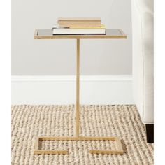 Safavieh Treasures Neil Gold/ Black Top Accent Table | Overstock.com