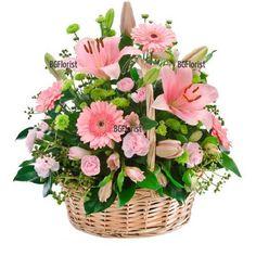 Доставка на Голяма кошница с разнообразни цветя в София