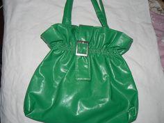 Bolsos Cartera Verde Cuerina, Negra Y Cinturon
