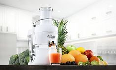 People love Jack LaLanne's PJEW Power Juicer, and it deserves it. This is amazing 3600 rpm centrifugal juicer. Small Kitchen Appliances, Kitchen Gadgets, Cool Kitchens, Jack Lalanne Juicer, Juicer For Sale, Juicer Reviews, Centrifugal Juicer, Juicer Machine, Best Juicer