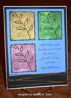 Pearl-Ex Leaves by buzsy - Cards and Paper Crafts at Splitcoaststampers