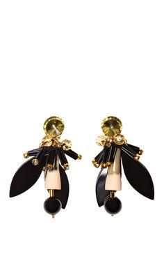 Resin and Crystal Earrings by Marni - Moda Operandi- designer inspired jewellery DIY tutorial coming soon to hapinesswherever.wordpress.com