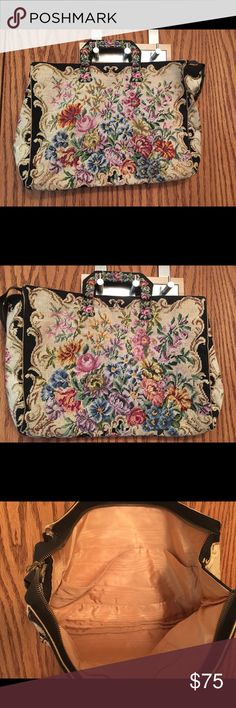Austrian handbag mid century era Beautiful vintage handbag in Beautiful condition. It is tapestry with no label I can find. Bags Satchels