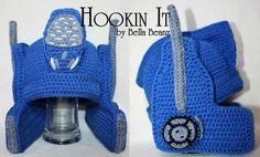 Transformers Optimus Prime Inspired Crocheted Helmet Hat