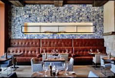 The Ultimate Scenic Wellness Break At Portugal's Six Senses Douro Valley by Laurie Werner - Forbes.com   A distinctly Portuguese touch to the design is the wall of azulejo tiles in the dining room.