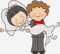 Sweet Wedding Toon Couple Free Party Printables.