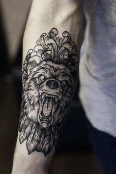 watercolor bear tattoo - Google Search