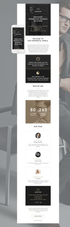 Faice Mail- 8 Unique Responsive Email set + Online Access Clean - email newsletter template