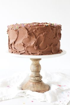 The BEST Double Chocolate Birthday Cake with Sprinkles – Renovieren vorher nachher Double Chocolate Cake, Chocolate Buttercream Frosting, Best Chocolate, Chocolate Flavors, Chocolate Cakes, 8 Inch Chocolate Cake Recipe, Buttercream Recipe, Food Cakes, Cupcake Cakes