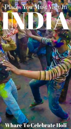 Places you must visit in India. Where to celebrate Holi in India by the Divergent Travelers Adventure Travel Blog. The festival of colors is a bucketlist worthy festival and our trip was planned around it. We ended up celebrating in the beautiful city of Jaipur tossing colors and playing with the locals. Click to read the full travel blog post. https://www.divergenttravelers.com/india-photos-blow-mind/