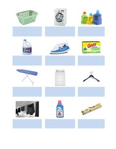 Match the word to the picture, great practice for learning laundry…