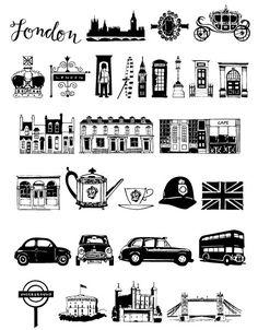 London Doodles www.outside-the-line.com
