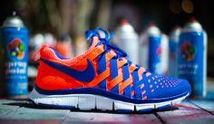 "Nike Free Trainer 5.0 NRG ""Total Crimson / Hyper Blue"""