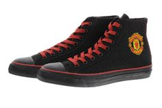 Manchester United Footwear Men lace-up sneaker, ankle high with a big Manchester United logo on the ankle. Soft twisted fabric as well as a removable leather insole for maximum comfort and optimum fit. The outer sole as well as the... #shoptheheroes #manchesterunited #sneaker #shoes #lifestyle #reddevil #manchester united #clothes #shoes #soccer