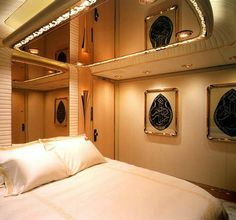 Sultan of Brunei's bedroom onboard Private Jet