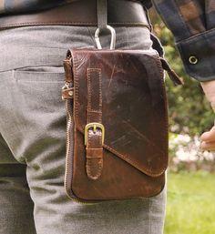 Mens Genuine Leather Sling Messenger Shoulder Fanny Waist Hip Bum Pack Bag | eBay