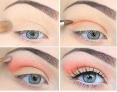 Salmon natural eye makep
