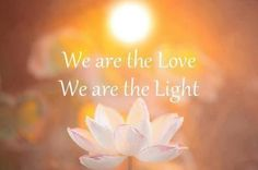 We are the love. We are the light.