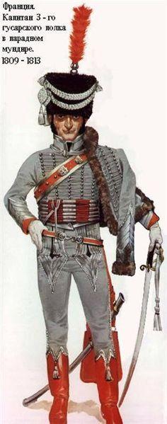 Angus Mc Bride - Oficial del 3º de Húsares franceses - 1809-1813 (Guerras Napoleónicas)