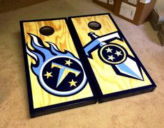Tennessee Titans Cornholes - Nashville cornholes Music City Boards
