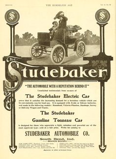 Vintage Shots From Days Gone By Electric Cars Studebaker Car
