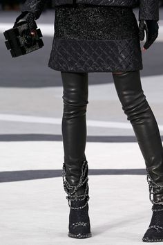 Chanel FW13 leather + quilting + chains