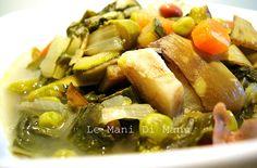 Minestra di verdure primaverile, Ricetta zuppe: http://blog.giallozafferano.it/lemanidimanu/minestra-di-verdure-primaverile-ricetta-zuppe/