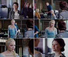 "Belle and Elsa - 4 * 6 ""Family Business. Belle French, Meghan Ory, Emilie De Ravin, Abc Shows, Ginnifer Goodwin, Robert Carlyle, Outlaw Queen, Jennifer Morrison, Captain Swan"