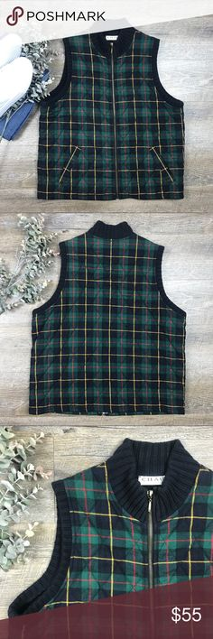 """Chaus Quilted Vest Adorable Chaus Sport quilted vest! In great condition. Body: 100% cotton. Quilting: 100% polyester. Size L. Bust 21.5"""", length 24"""". I-13 Chaus Jackets & Coats Vests"""