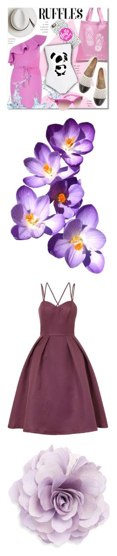"""Purple"" by itsamenruth ❤ liked on Polyvore featuring Los Angeles Pop Art, River Island, Calypso Private Label, Casetify, Mikoh, WALL, Michael Kors, flowers, effect and dresses"
