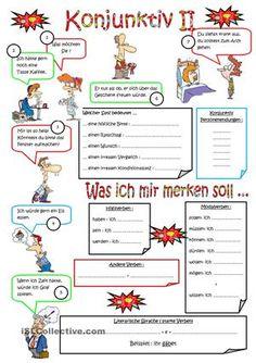 Konjunktiv II lernen. - DaF Arbeitsblätter