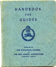 Girl Guides Handbook circa 1950