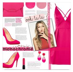 """""""Color Me Pretty: Head-to-Toe Pink"""" by j4wahir ❤ liked on Polyvore featuring Topshop, Christian Louboutin, Givenchy, Kate Spade, MAC Cosmetics and Wander Beauty"""