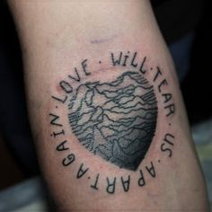 Joy Division Tattoo - Love will tear us apart again.