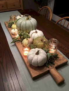 When it comes to Thanksgiving Day, people will decorate every corner of their house with Thanksgiving or fall decorations. By every corner, it means all of the rooms in the house including kitchen, #Decoration #Kitchen #thanksgiving #thanksgivingkitchen Fall Table Centerpieces, Decoration Table, Centerpiece Ideas, Kitchen Decorations, Wedding Decorations, Wedding Ideas, Wedding Table, Tall Centerpiece, Fall Wedding Mums