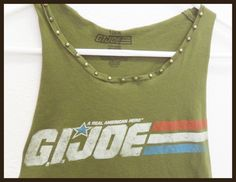 Like the tank not the studs. G.I. Joe Tshirt with Studs : Racerback Tank, Army Green, Refashioned