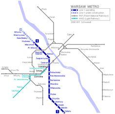 mapa del metro de Varsovia