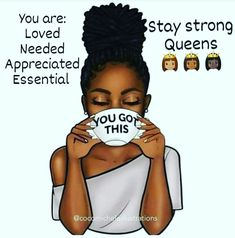 Black Girl Art, Art Girl, Morning Blessings, Thought Of The Day, Stay Strong, Good Morning Quotes, Mornings, Diva, Sisters