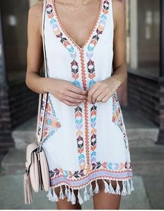 More Colors – More Summer Fashion Trends To Not Miss This Season. 43 Lovely Casual Style Ideas For Your Perfect Look This Fall – Gorgeous! More Colors – More Summer Fashion Trends To Not Miss This Season. Boho Mode, Mode Hippie, Cute Summer Outfits, Cute Outfits, Beach Outfits, Hipster Outfits, Boho Outfits, Stylish Outfits, Fall Outfits