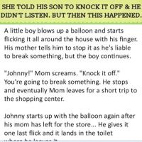 Son didn't listen to his mom and then this happened. (Click to Enlarge). Very Funny, Stop It, Ups And Downs, Little Boys, Need To Know, Laughter, Sons, Funny Quotes, Humor