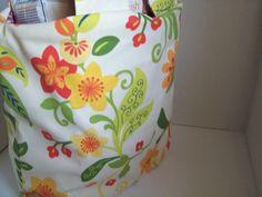 Flower shopping bag/ tote bag/ school bag/ by A1HomespunDesign