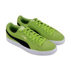 e82e6702265d Puma Suede Classic Mens Green Suede Lace Up Sneakers Shoes