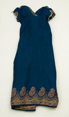 Striking and glamorous sapphire blue silk shawl dress. Perfect. 1815 Snowshill.