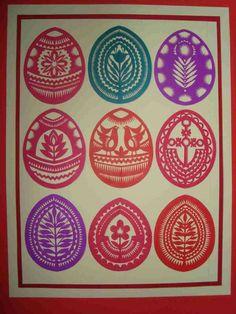 oeufs décorés. Paper Cutting, Cut Paper, Egg Decorating, Kirigami, Paper Cards, Easter Eggs, Doodle, Stencils, Applique